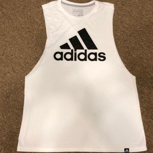 Womens Adidas Muscle Sleeveless Shirt Size Lg